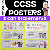 Common Core Standards Posters - Math & ELA (Kindergarten)