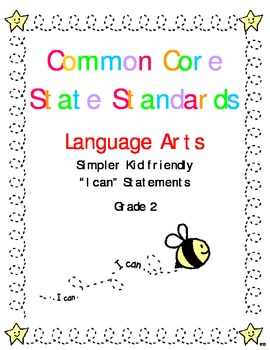 "Common Core Standards Language Arts & Math Gr. 2 ""I Can"" S"