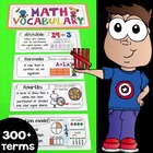 Interactive Math Notebook Vocabulary 3-5