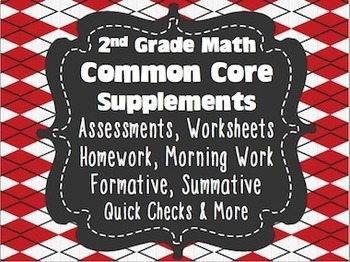 2nd Grade Common Core Standards Math Assessments Second {1