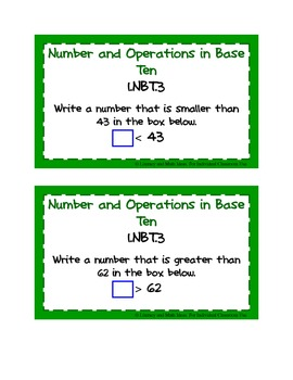 Common Core Standards Math Task Cards:  Grade 1