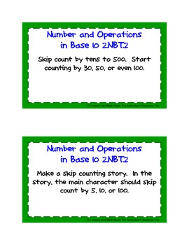 Common Core Standards Math Task Cards:  Grade 2