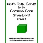 Common Core Standards Math Task Cards:  Grade 3