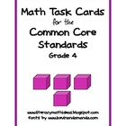 Common Core Standards Math Task Cards:  Grade 4