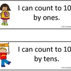 Common Core Standards - Pocket Chart Size - Math Kindergarten