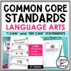 Common Core Standards Posters 4th Grade Language Arts