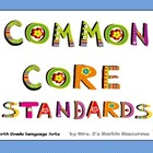 Common Core Standards Posters 4th Grade Reading Literature