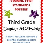 Common Core Standards Posters AND Essential Questions-Thir