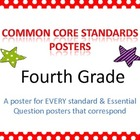 Common Core Standards Posters for Fourth Grade (horizontal