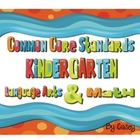 Common Core Standards Posters for Kindergarten~ Polka Dot