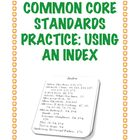 Common Core Standard RI.2.5: Using An Index