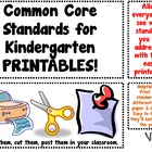 Common Core Standards Printables