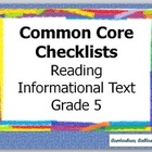 Common Core Standards Reading Informational Text  Checklis
