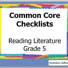 Common Core Standards Teacher Checklist Reading and Litera