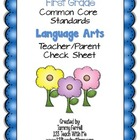 Common Core Standards for 1st Grade Language Arts Teacher/
