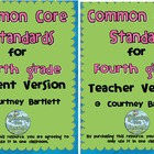 Common Core Standards for 4th grade