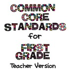Common Core Standards for First Grade