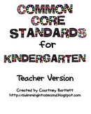 Common Core Standards for Kindergarten