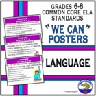 Common Core Standards for Language  ELA PowerPoint Posters