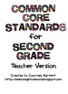 Common Core Standards for Second Grade