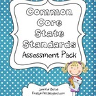 Common Core State Standards 1st Grade Assessment Checklist