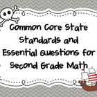 Common Core State Standards  for 2nd Grade Math- Pirate Themed