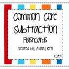 Common Core Subtraction Flashcards K.OA.5