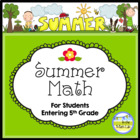 Common Core Summer Math - 4th Graders Going to 5th