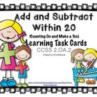 Addition and Subtraction with Fluency Task Cards 2.OA.2  (