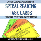 Common Core Task Cards for Literature 5th Grade Reading Centers