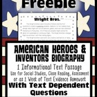 Freebie: Biography Passage {Close Reading, Homework, Asses