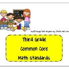 Common Core Third Grade Math Standards