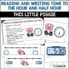 Common Core: This Little Piggy, Telling Time to the Hour a