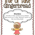 Common Core True or False Gingerbread Freebie