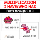 Common Core: Valentine Sweets, I Have/Who Has Multiplicati