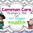 Common Core Vocabulary Wall Set: 3rd Grade Math {GRAY CHEVRON}