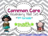 Common Core Vocabulary Wall Set: 4th Grade Math {GRAY CHEVRON}