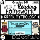 Common Core Weekly Reading Homework (Grades 3-5) - Greek M