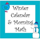 Common Core Winter Calendar Cards, Weather, Time, Numbers,