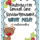 Common Core Winter Math Review/Homework Packet {Kindergarten}
