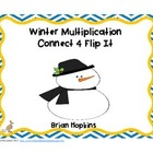 Common Core Winter Multiplication Flip It Connect 4