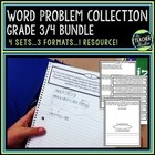 Common Core Word Problem Bundled Set: Grade 3-4