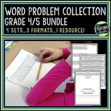 Common Core Word Problem Bundled Set: Grade 4-5
