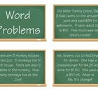 Common Core Word Problem Cards