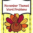 Common Core Word Problems for November