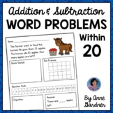 35 Addition & Subtraction Word Problems With Bonus/Enrichm
