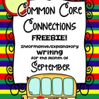 Common Core Writing FREEBIE ~ Classroom Connections September