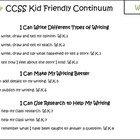 Kid-Friendly Common Core Writing Progression checklists K-3