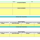 Common Core/Marzano Interactive Lesson Plan Template-Kinde