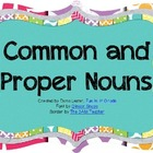 Common &amp; Proper Nouns {capitalization rules} Power Point